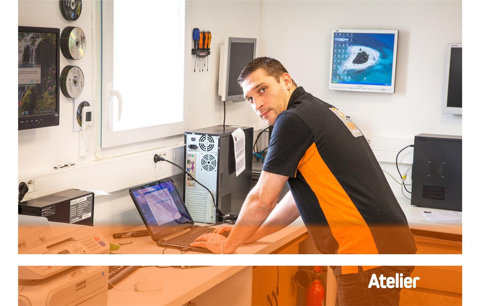 Notre technicien intervient au plus vite pour le dépannage de vos différents appareils (pc portable, tours, tablette,